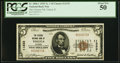 National Bank Notes:Illinois, Toluca, IL - $5 1929 Ty. 1 The Citizens NB Ch. # 11333 PCGS About New 50.. ...