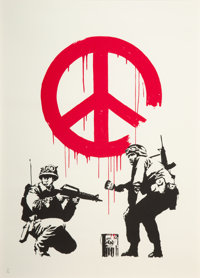 Banksy (British, b. 1974) CND Soldiers, 2005 Screenprint in colors on wove paper 27-1/2 x 19-5/8