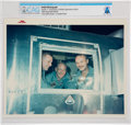 "Explorers:Space Exploration, Apollo 11: Original NASA ""Red Number"" Color Photo of the Astronauts in the Mobile Quarantine Facility, 1969, Directly From The..."