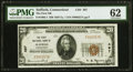 National Bank Notes:Connecticut, Suffield, CT - $20 1929 Ty. 1 The First NB Ch. # 497 PMG Uncirculated 62.. ...