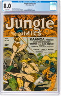 Golden Age (1938-1955):Adventure, Jungle Comics #35 (Fiction House, 1942) CGC VF 8.0 Off-whitepages....