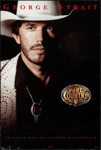 """Pure Country & Other Lot (MCA, 1992). Rolled & Folded, Very Fine. Soundtrack Poster (24"""" X 36""""..."""