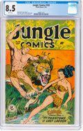 Golden Age (1938-1955):Adventure, Jungle Comics #103 (Fiction House, 1948) CGC VF+ 8.5 Whitepages....