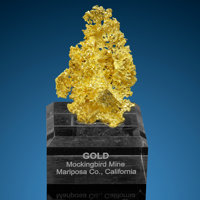 Gold Dodecahedron Mockingbird Mine (Talc & Lacy claim) Colorado area, Whitlock District Bagby-Mariposa-Mount B...