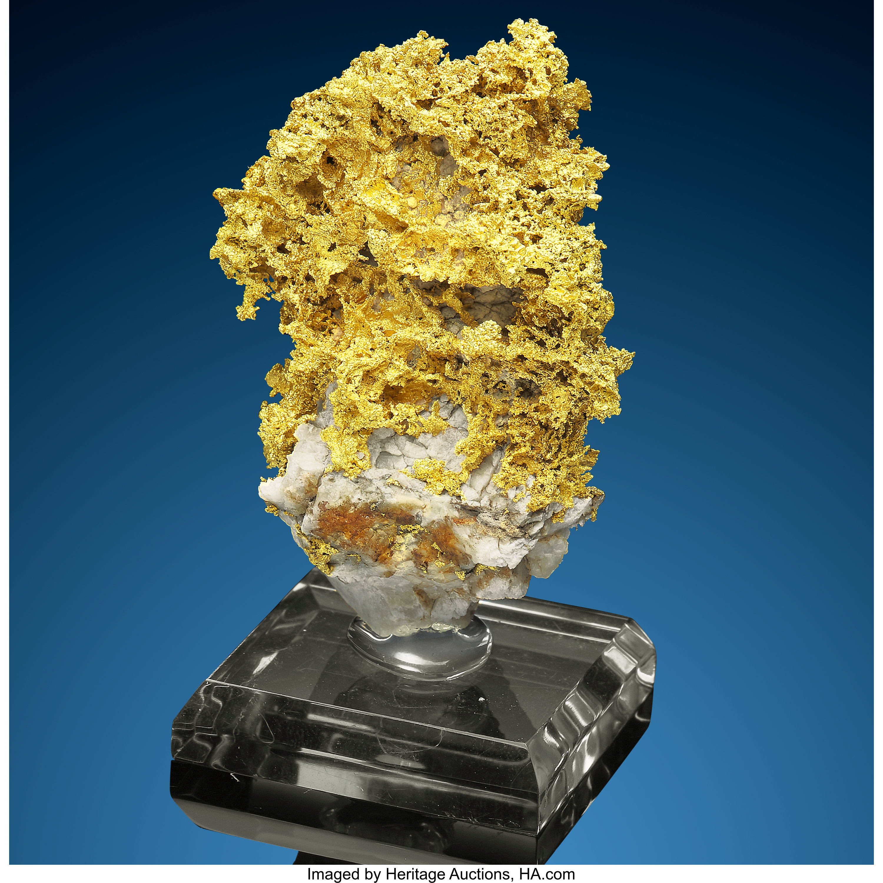 Gold In Quartz Nevada Usa Minerals Golds Lot 72005 Heritage Auctions