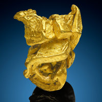 Gold Nugget Mt Kare Mine, Mt Kare Valley Mt Hagen, Enga Province Papua New Guinea
