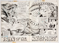 Bob Brown and Murphy Anderson Superboy #178 Double Splash Page 2-3 Original Art (DC, 1971).... (Total: 2 Original Art)