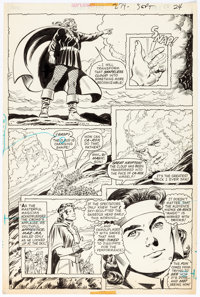 "Curt Swan and Tex Blaisdell Superman #279 ""The Magic of Krypton"" 5 Pages Near-Complete Story Original Art (DC..."