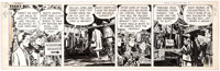 Milton Caniff Terry and the Pirates Comic Strip Original Art dated 11-18-46 (News Syndicate Company, 1946)