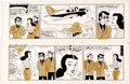 Original Comic Art:Comic Strip Art, Zack Mosley Smilin' Jack Daily Comic Strip Consecutive Original Art Group of 2 (News Syndicate Co., Inc., 1967). ... (Total: 2 Original Art)