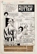 Original Comic Art:Splash Pages, Ric Estrada and Bob Oksner Welcome Back, Kotter #3 SplashPage 1 Original Art Group (DC, 1977). ...