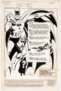 Original Comic Art:Splash Pages, Ric Estrada and Dick Giordano DC Special Series #8 TheBrave and The Bold Splash Page 1 Original Art B...