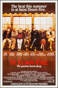 """St. Elmo's Fire (Columbia, 1985). Rolled, Very Fine+. One Sheet (27"""" X 41""""). Drama"""