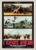 "Movie Posters:Documentary, The African Elephant (Titanus, 1972). Folded, Very Fine-. Italian 4 - Fogli (55.25"" X 77.75""). Documentary.. ..."