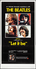 """Movie Posters:Rock and Roll, Let It Be (United Artists, 1970). Folded, Very Fine. Three Sheet (41"""" X 79""""). Rock and Roll.. ..."""