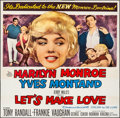 """Movie Posters:Comedy, Let's Make Love (20th Century Fox, 1960). Folded, Very Fine-. Six Sheet (80.5"""" X 79.25""""). Comedy.. ..."""