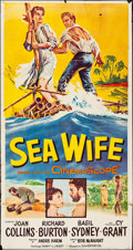 "Movie Posters:Drama, Sea Wife (20th Century Fox, 1957). Folded, Fine/Very Fine. Three Sheet (41"" X 78""). Drama.. ..."