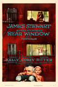 "Movie Posters:Hitchcock, Rear Window (Paramount, 1954). Very Fine on Linen. One Sheet (27"" X 41"").. ..."