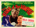 Movie Posters:Horror, The Return of the Vampire (Columbia, 1943). Folded, Very F...