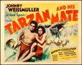 """Movie Posters:Adventure, Tarzan and His Mate (MGM, 1934). Very Fine-. Title Lobby Card (11"""" X 14""""). William Galbraith Crawford Artwork.. ..."""