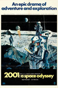 """Movie Posters:Science Fiction, 2001: A Space Odyssey (MGM, 1968). Folded, Fine/Very Fine. One Sheet (27"""" X 41"""") Style B, Robert McCall Artwork.. ..."""