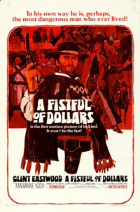 """A Fistful of Dollars (United Artists, 1967). Folded, Fine/Very Fine. One Sheet (27"""" X 41"""")"""
