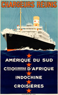 """Movie Posters:Miscellaneous, Chargeurs Reunis (1930s). Very Fine- on Linen. French Travel Poster (23.25"""" X 38"""") Georges """"Sandy Hook"""" Taboureau Artwork.. ..."""
