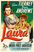 Movie Posters:Film Noir, Laura (20th Century Fox, 1944). Fine/Very Fine on Linen.