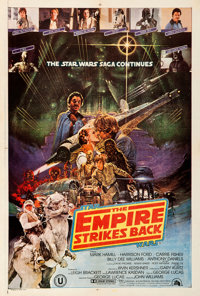 "The Empire Strikes Back (20th Century Fox, 1980). Very Fine on Linen. Indian One Sheet (27.5"" X 40.25"") Noriyo..."