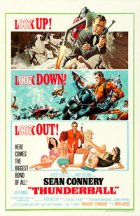 """Thunderball (United Artists, 1965). Very Fine on Linen. One Sheet (27"""" X 41.5"""") Jetpack Style, Frank McCarthy..."""