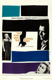 """The Man with the Golden Arm (United Artists, 1955). Very Fine- on Linen. One Sheet (26.75"""" X 41""""). Saul Bass A..."""