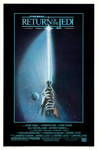 "Return of the Jedi (20th Century Fox, 1983). Rolled, Near Mint-. One Sheets (50) Identical (27"" X 41"") with Or..."