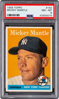 Baseball Cards:Singles (1950-1959), 1958 Topps Mickey Mantle #150 PSA NM-MT 8. 1958 To...