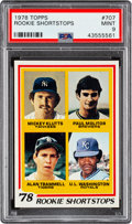 Baseball Cards:Singles (1970-Now), 1978 Topps Molitor/Trammell - Rookie Shortstops #707 PSA Mint 9. ...
