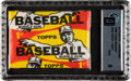 Baseball Cards:Unopened Packs/Display Boxes, 1959 Topps Baseball 1-Cent Wax Pack GAI Mint 9. ...