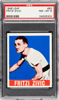 1948 Leaf Fritzi Zivic #82 PSA NM-MT 8 - Only One Higher