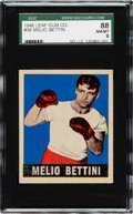 Boxing Cards:General, 1948 Leaf Melio Bettini #36 SGC 88 NM/MT 8 - Pop One, One Higher....