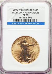 Three-Piece Set of 2006-W $50 20th Anniversary One-Ounce Gold Eagles NGC