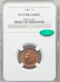 1884 1C PR67 Red and Brown Cameo NGC. CAC. Snow-PR4