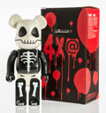 Collectible:Contemporary, BE@RBRICK . Horror Skull 400%, 2005. Painted cast resin. 10-3/4 x 5 x 3-1/2 inches (27.3 x 12.7 x 8.9 cm). Stamped to th...