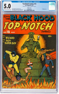 Top-Notch Comics #15 Double Cover (MLJ, 1941) CGC VG/FN 5.0 Light tan to off-white pages