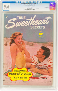 True Sweetheart Secrets #7 Crowley Copy Pedigree (Fawcett Publications, 1951) CGC NM+ 9.6 Off-white pages