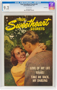 True Sweetheart Secrets #8 Crowley Copy Pedigree (Fawcett Publications, 1952) CGC NM- 9.2 Off-white pages