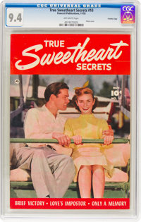 True Sweetheart Secrets #10 Crowley Copy Pedigree (Fawcett Publications, 1952) CGC NM 9.4 Off-white pages