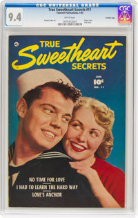 True Sweetheart Secrets #11 Crowley Copy Pedigree (Fawcett Publications, 1953) CGC NM 9.4 White pages