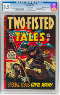 """Two-Fisted Tales #35 Davis Crippen (""""D"""" Copy) Pedigree (EC, 1953) CGC VF+ 8.5 Off-white pages"""