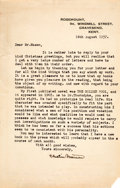 Books:Mystery & Detective Fiction, R. Austin Freeman. Typed Letter, Signed. Gravesend...