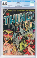Golden Age (1938-1955):Horror, The Thing! #12 (Charlton, 1954) CGC FN+ 6.5 Off-white to white pages....