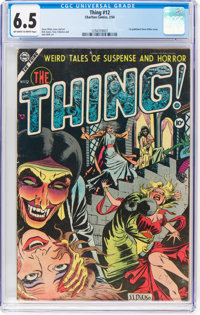 The Thing! #12 (Charlton, 1954) CGC FN+ 6.5 Off-white to white pages