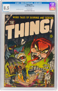 Golden Age (1938-1955):Horror, The Thing! #13 (Charlton, 1954) CGC VF+ 8.5 Off-white pages....